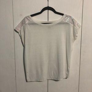 Aeropostale White Sparkle T-Shirt